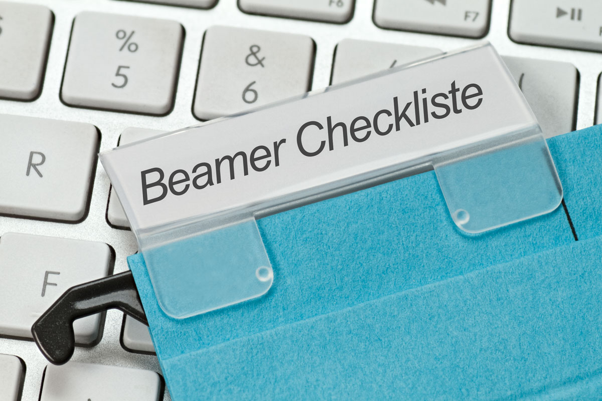 Beamer Checkliste